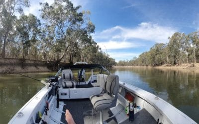 Victorians can now fish from a boat on the Murray River